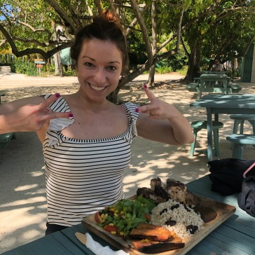 Jerk Chicken on Button Beach